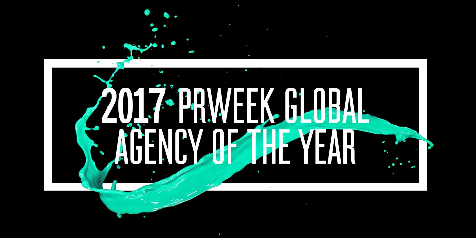 PRWeek Names Weber Shandwick 2017 Global Agency of the Year